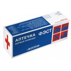 Аптечка ФЭСТ индивидуальная МИНИ (футляр-коробка, пластик)(арт.1077)